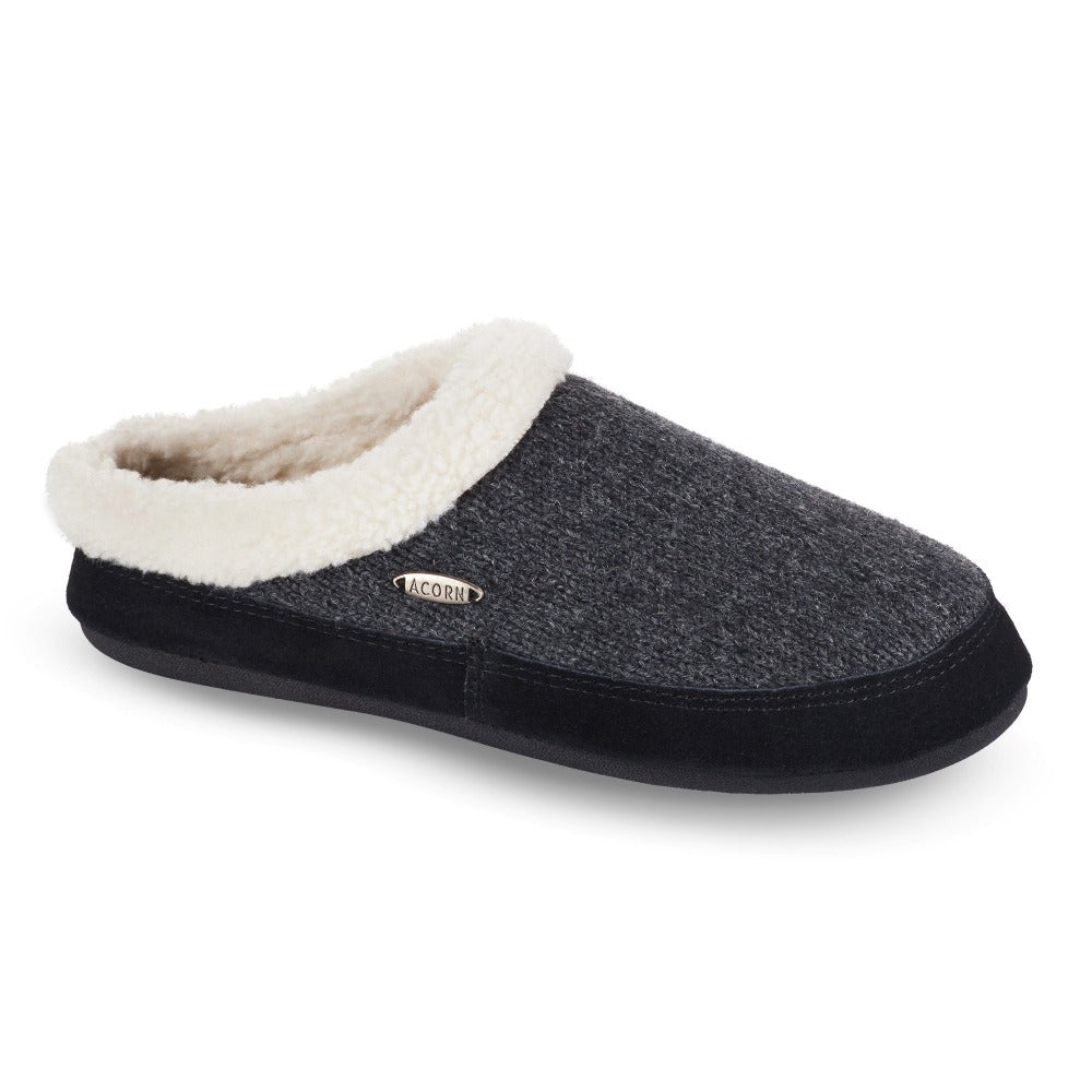 Acorn Women's Mule Ragg Slipper in Dark Charcoal Side View
