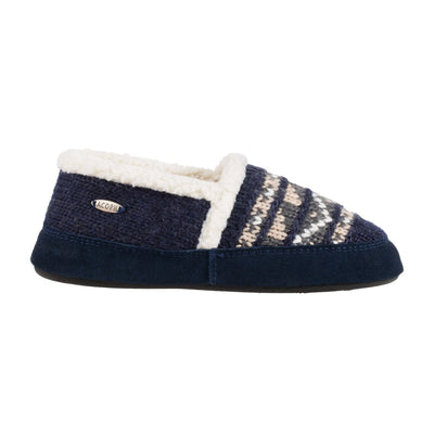 Acorn Nordic Moccasin Slipper Nordic Blue Side View