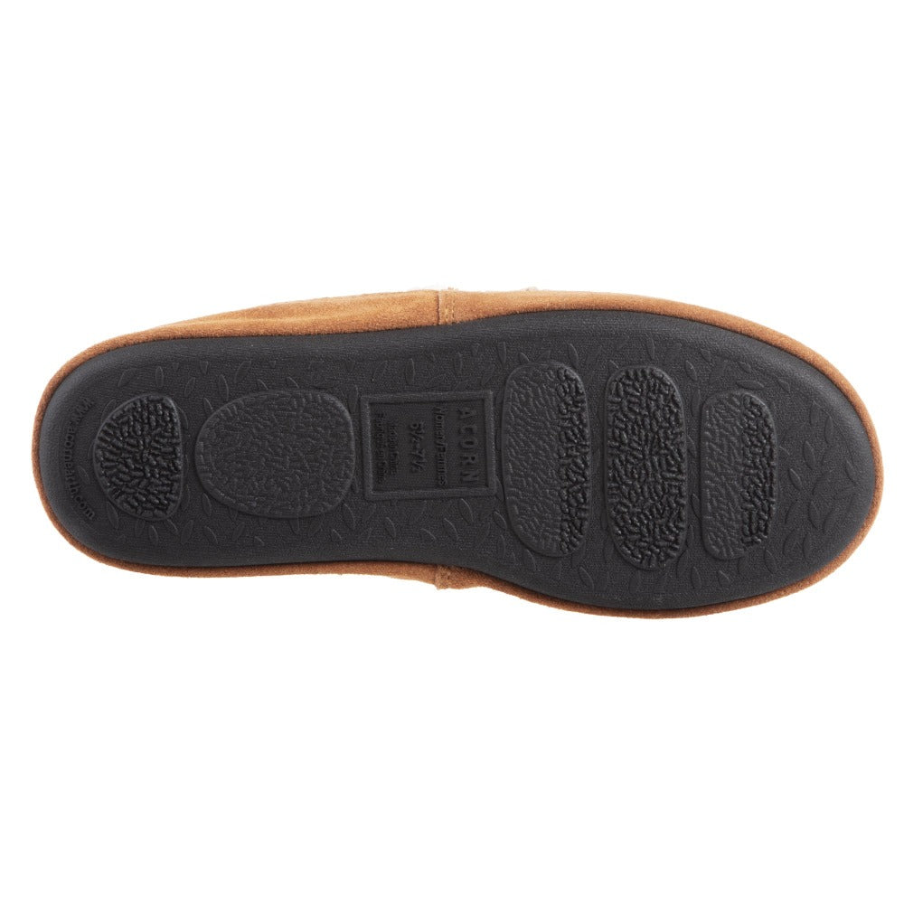 Acorn Nordic Moccasin Slipper Oatmeal Heather Outsole View