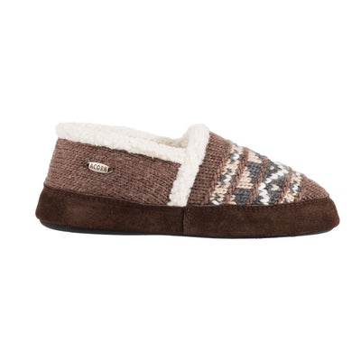 Acorn Nordic Moccasin Slipper Brown Side View