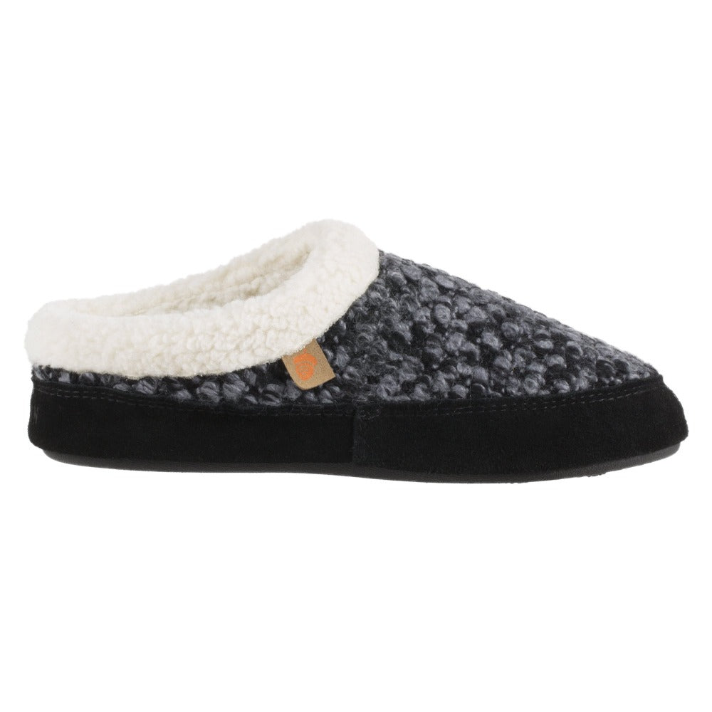 Acorn Jam Mule Slipper Grey Side Profile