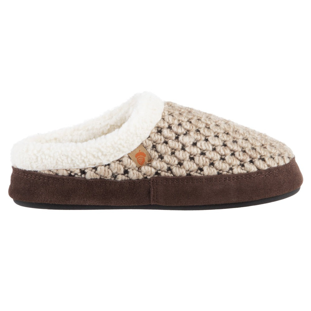 Acorn Jam Mule Slipper in Pebble Color Side View