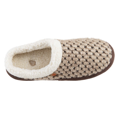 Acorn Jam Mule Slipper in Pebble Color Top Down View