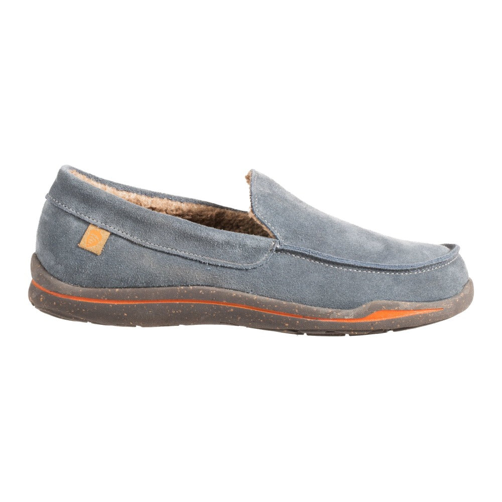 Acorn Men's Ellsworth Moccasin Slipper in Mineral Side Profile View