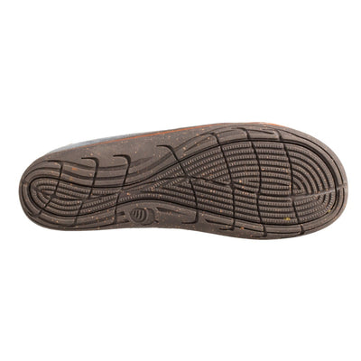 Acorn Men's Ellsworth Moccasin Slipper in Mineral Indoor Outdoor Sole View