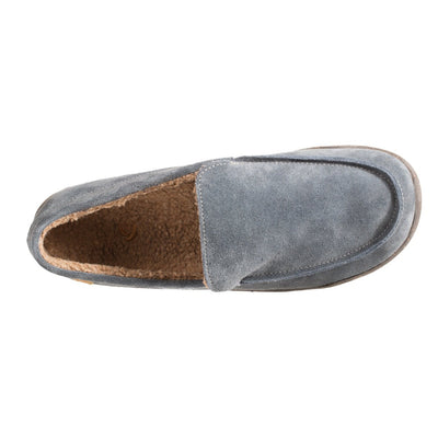 Acorn Men's Ellsworth Moccasin Slipper in Mineral Top Down View