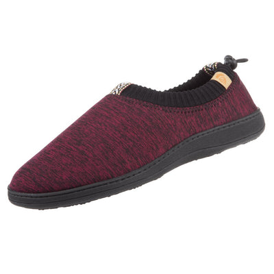 Garnet Heather Acorn Slipper left side angle