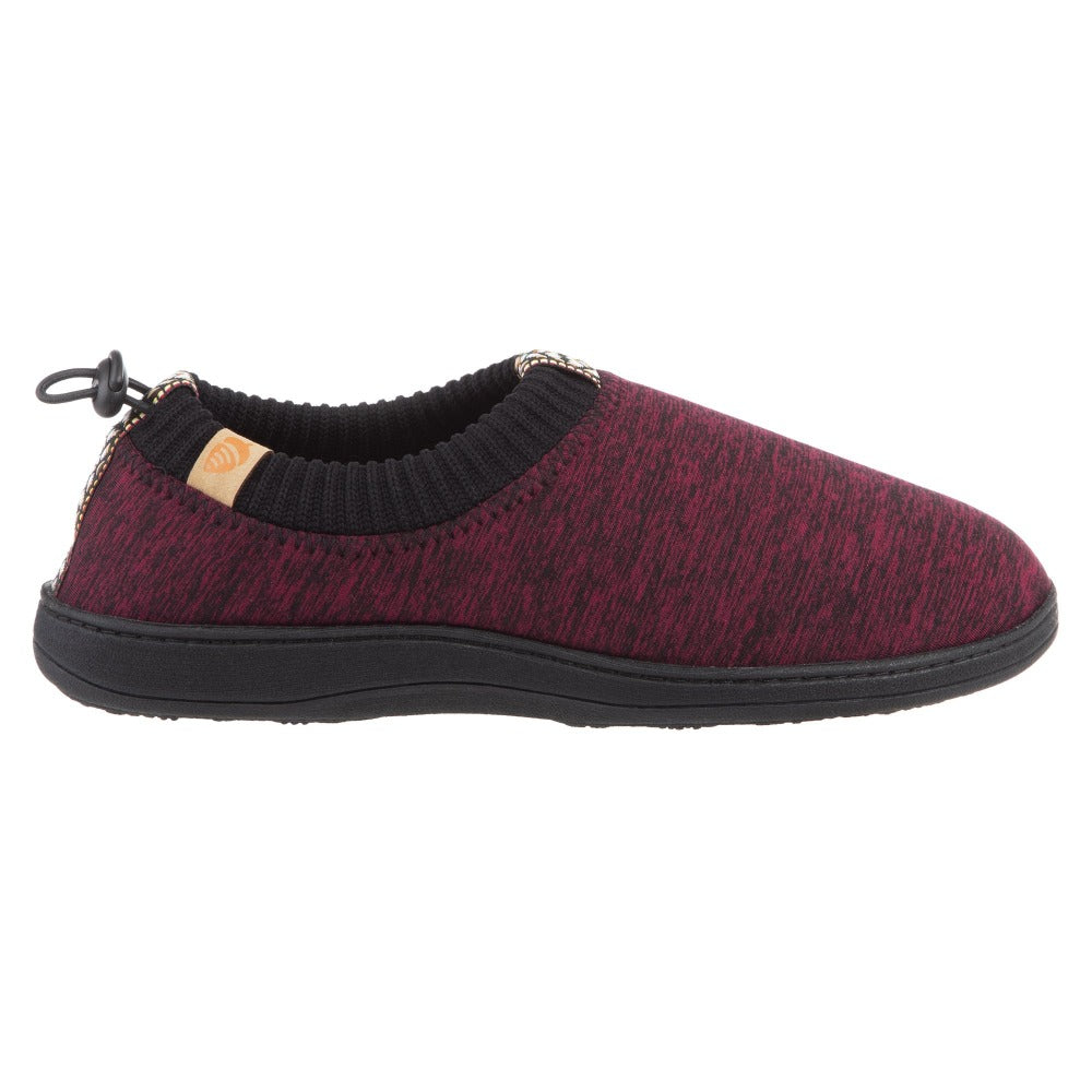 Garnet Heather Acorn Slipper side angle