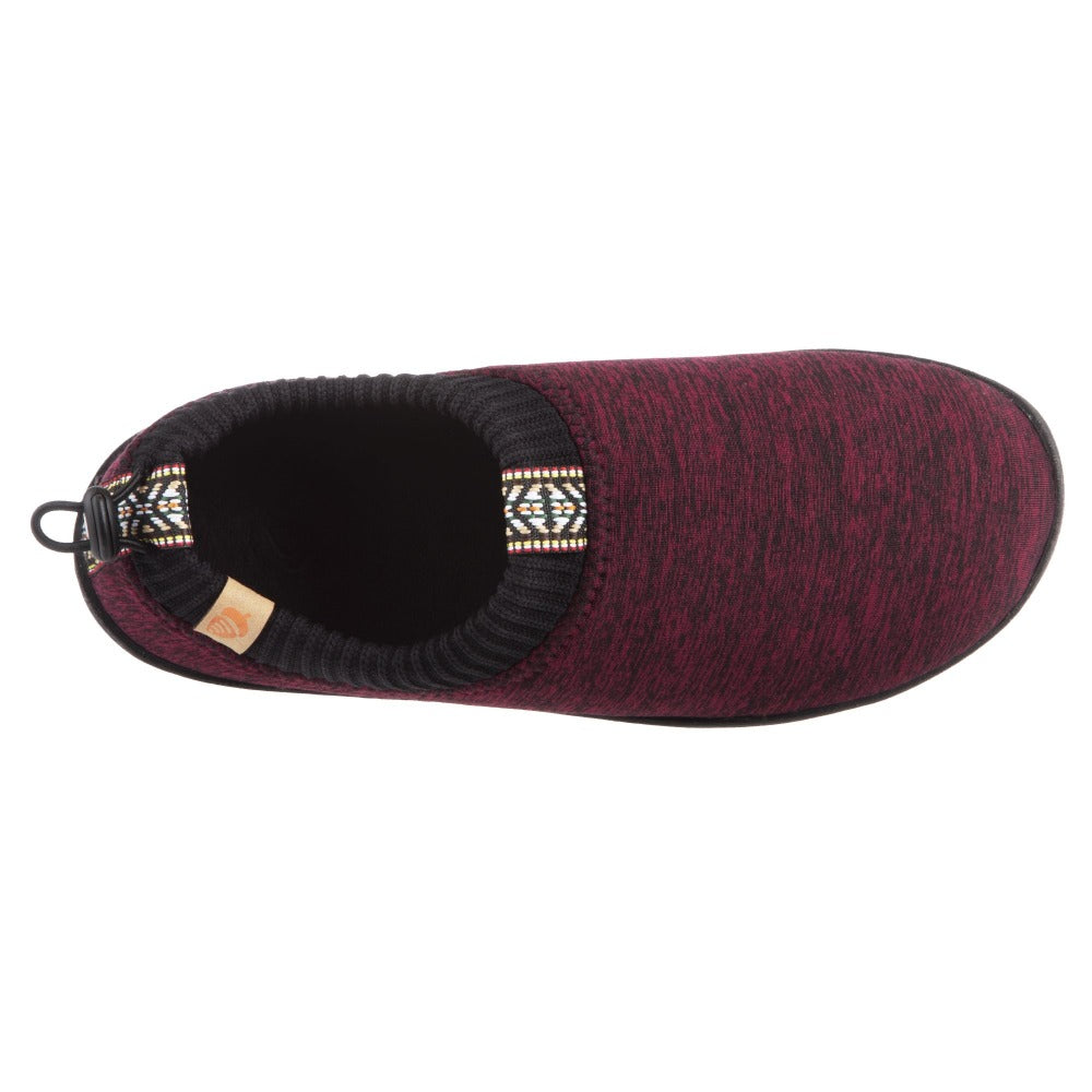 Garnet Heather Acorn Slipper top angle