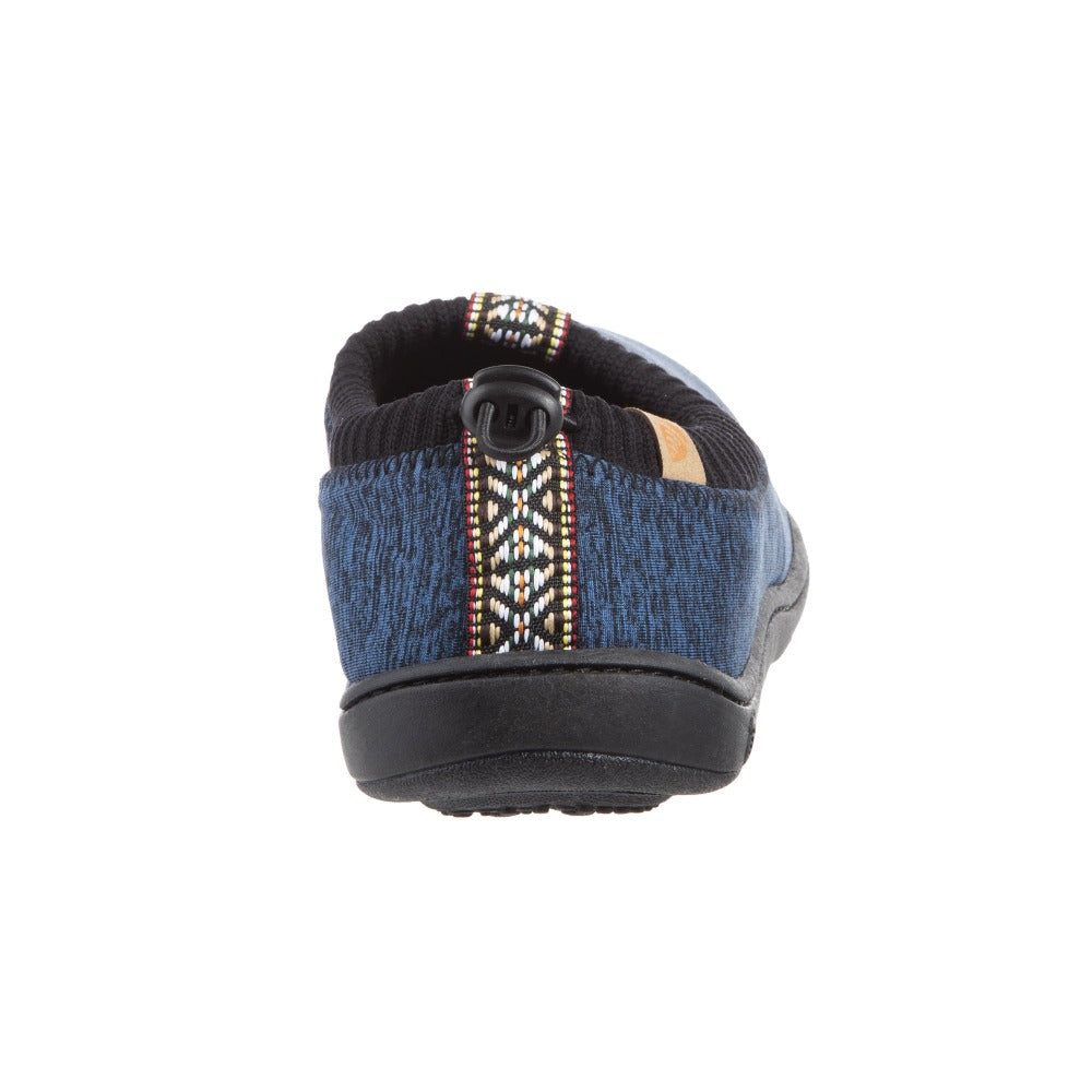 Navy Heather Acorn Slipper back angle