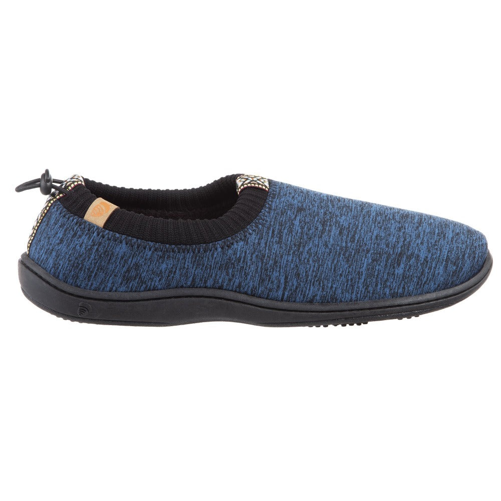 Navy Heather Acorn Slipper side angle