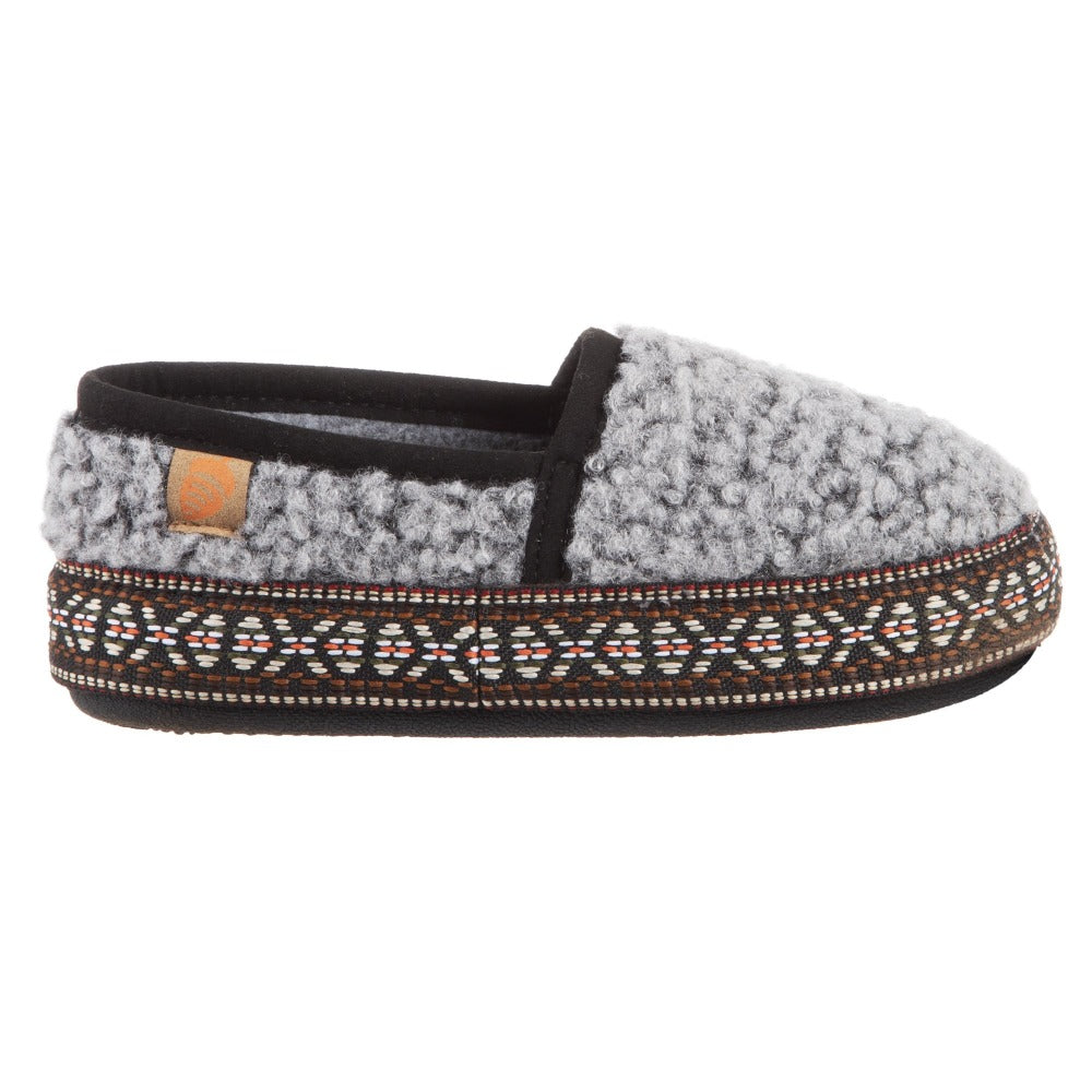 Stormy Grey Acorn Slipper