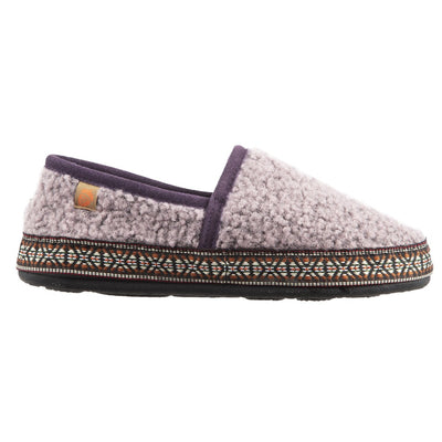 Acorn Woven Trim Moccasin Iris Side Profile View