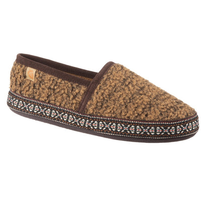 Acorn Womens Woven Trim Moc Brown Angle View