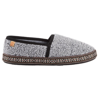 Acorn Men's Woven Trim Moccasin in Stormy Grey Profile View