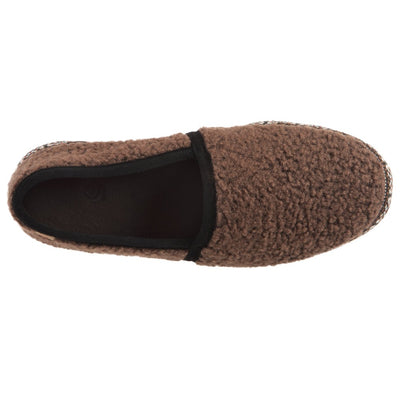 Acorn Men's Woven Trim Moccasin in Walnut Top Down View