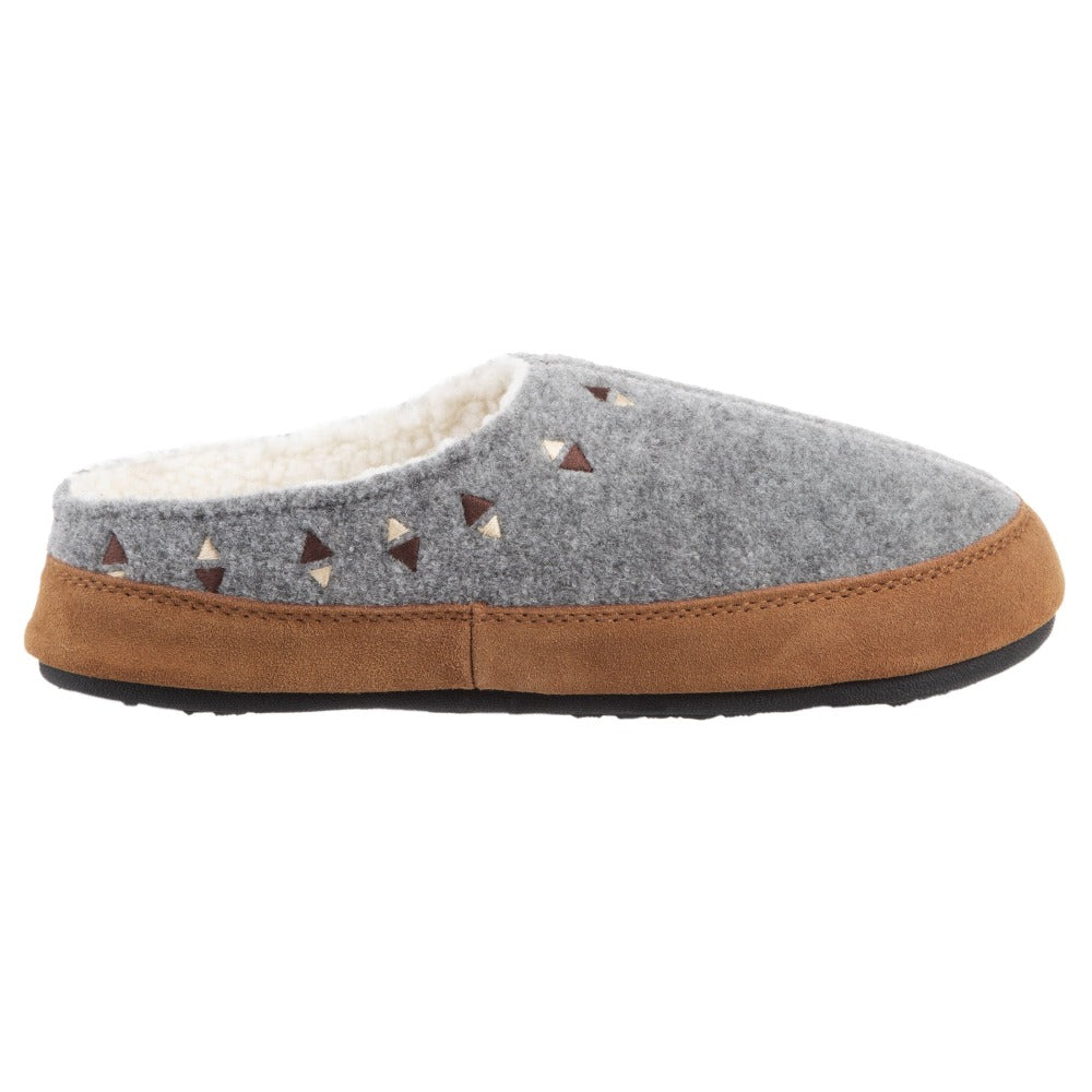 Acorn Women's Geo Hoodback Slipper Ash Side View