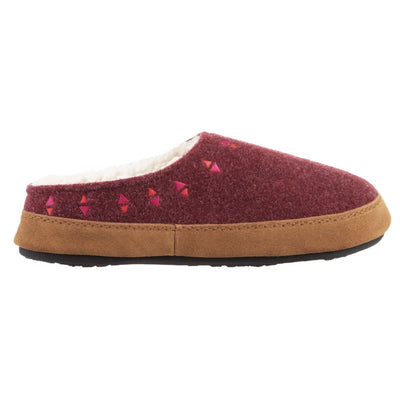 Acorn Women's Geo Hoodback Slipper Garnet Side View