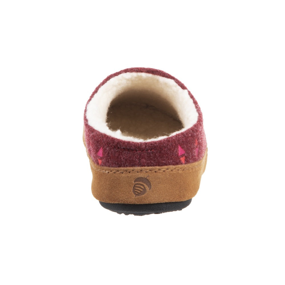 Acorn Women's Geo Hoodback Slipper Garnet Back View