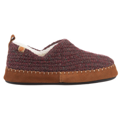 Acorn Camden Recycled Slipper in Garnet Side View