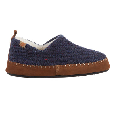 Acorn Navy Camden Slipper Recycled Yarn Side Profile