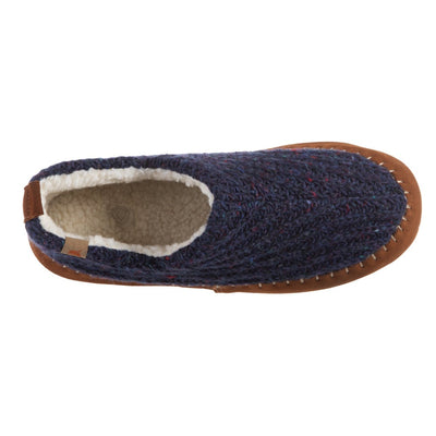 Acorn Camden Recycled Yarn Slipper Navy Top Down View
