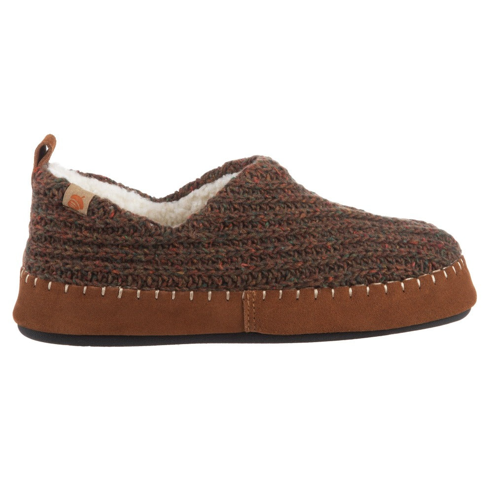 Acorn Camden Recycled Yarn Slipper Walnut Side Profile View