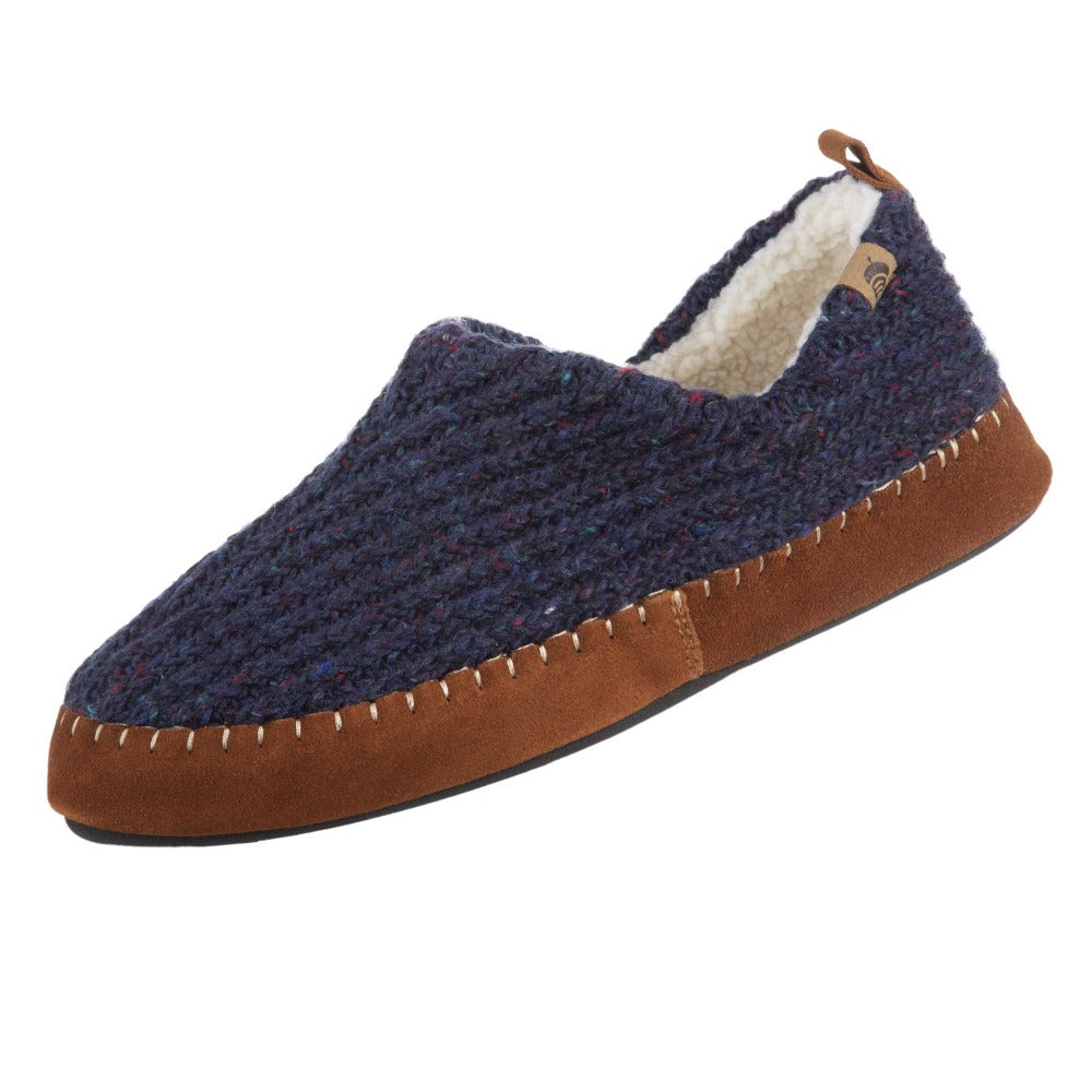 Acorn Men's Camden Recycled Yarn Slipper in Navy Angle View