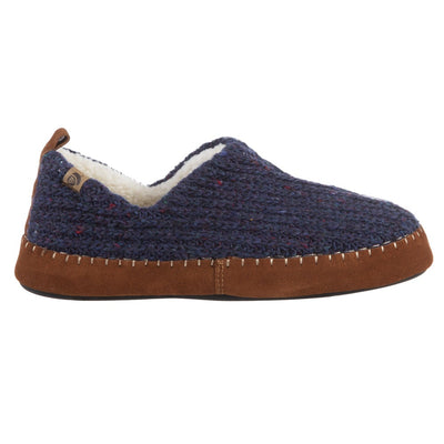 Acorn Men's Camden Recycled Yarn Slipper in Navy Side Profile View