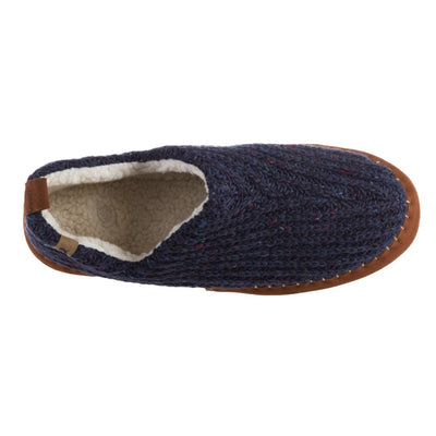 Acorn Men's Camden Recycled Yarn Slipper in Navy Top Down View