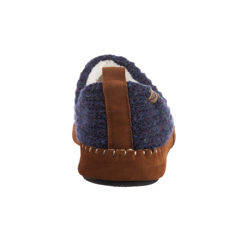 Acorn Men's Camden Recycled Yarn Slipper in Navy Back Heel View