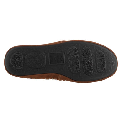 Acorn Men's Camden Recycled Yarn Slipper in Walnut Indoor Outdoor Sole View