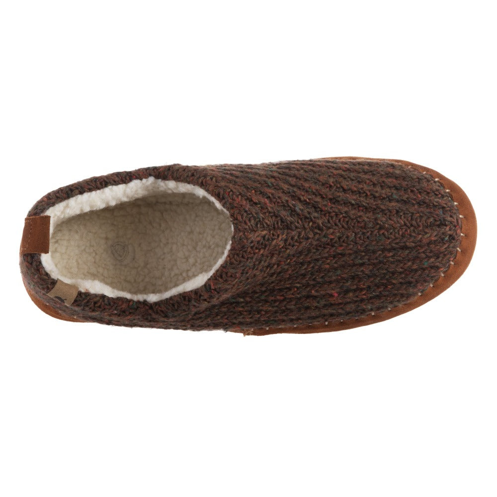 Acorn Men's Camden Recycled Yarn Slipper in Walnut Side Top Down View