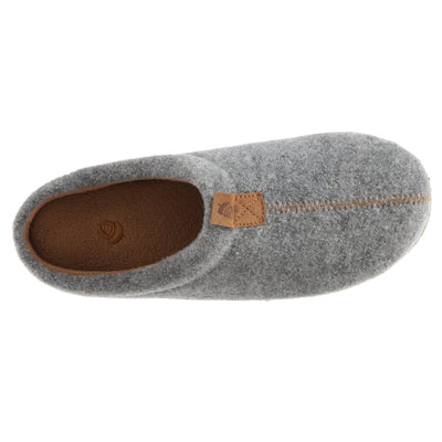 Women's Parker Hoodback Slipper + BLOOM™ in Ash Grey Inside Top View