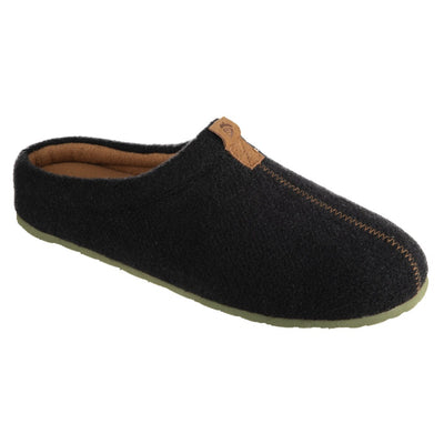 Men's Parker Hoodback Slipper + BLOOM™ in Black Right Angled View