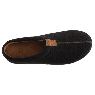 Men's Parker Hoodback Slipper + BLOOM™ in Black Inside Top View