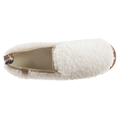 Women's Lightweight Bristol Loafer in Buff Popcorn Inside Top View