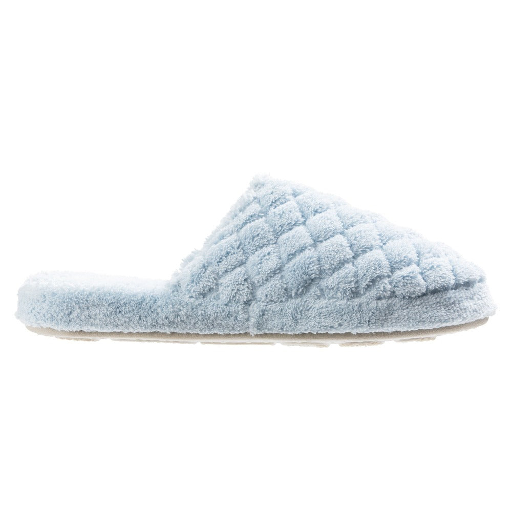 Women's Spa Quilted Clog in Powder Blue Profile