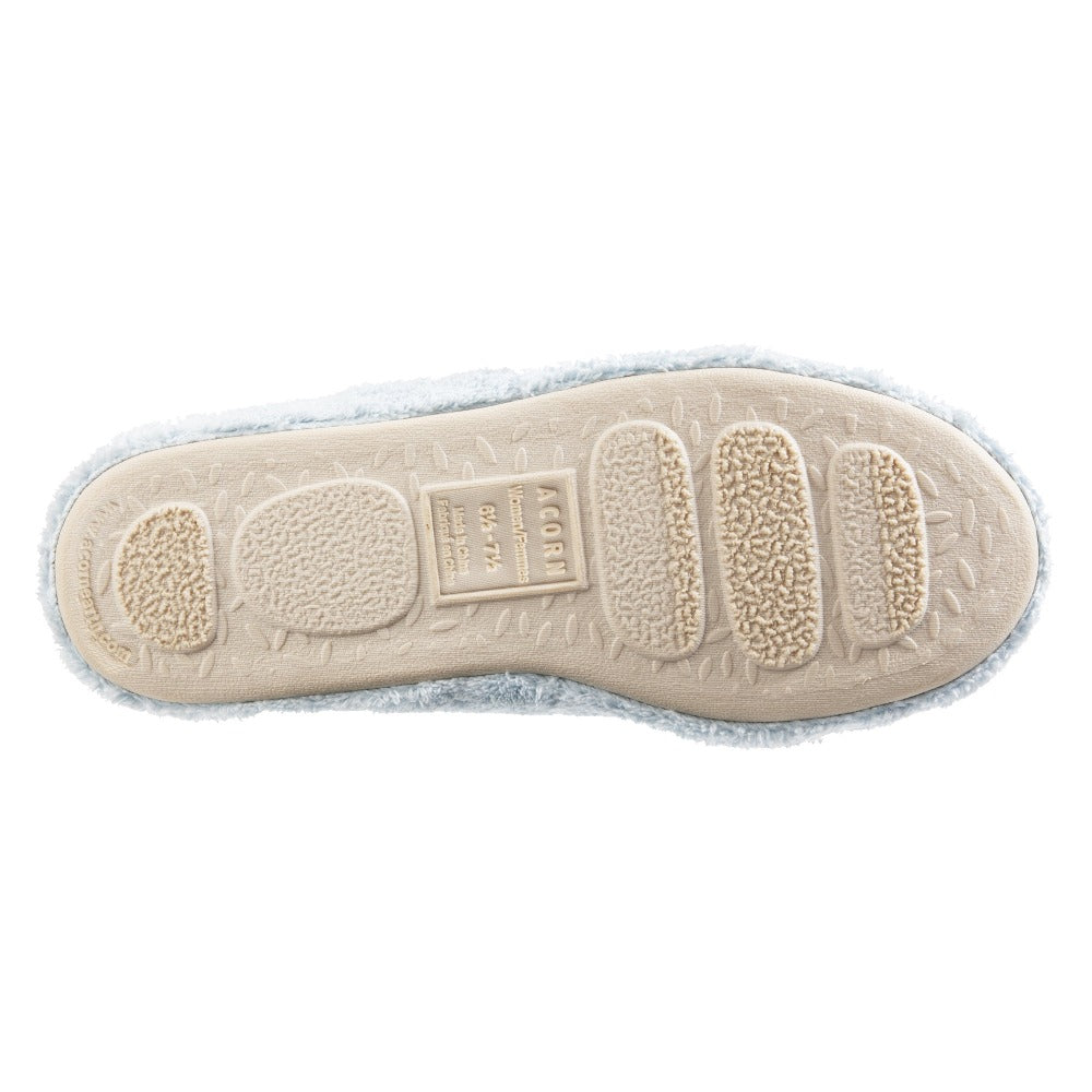 Women's Spa Quilted Clog in Powder Blue Bottom Sole Tread