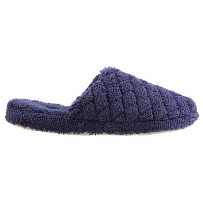 Women's Spa Quilted Clog in Navy/Blue Profile