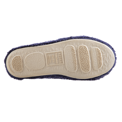 Women's Spa Quilted Clog in Navy/Blue Bottom Sole Tread