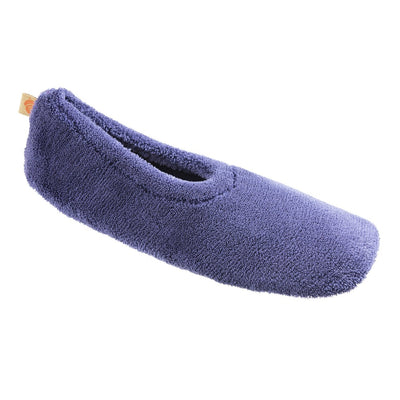 Acorn Travel Spa Slipper in Navy Blue top angle