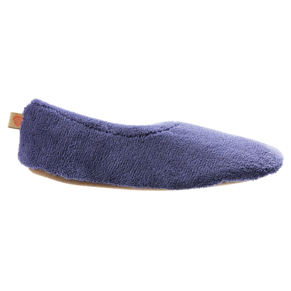 Acorn Travel Spa Slipper in Navy Blue side shot