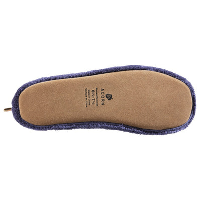 Acorn Travel Spa Slipper in Navy Blue bottom