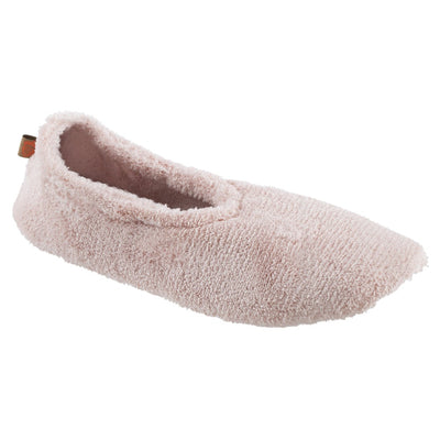 Women's Spa Travel Slipper in Pink Right Angled View