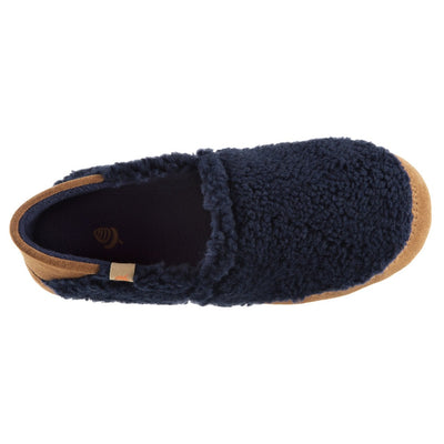Women's Acorn Moc with Collapsible Heel Slipper in Navy Blue Inside Top View