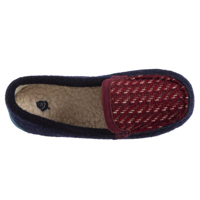 Women's Andover Driver Moc Slipper in Navy Blue Inside Top View