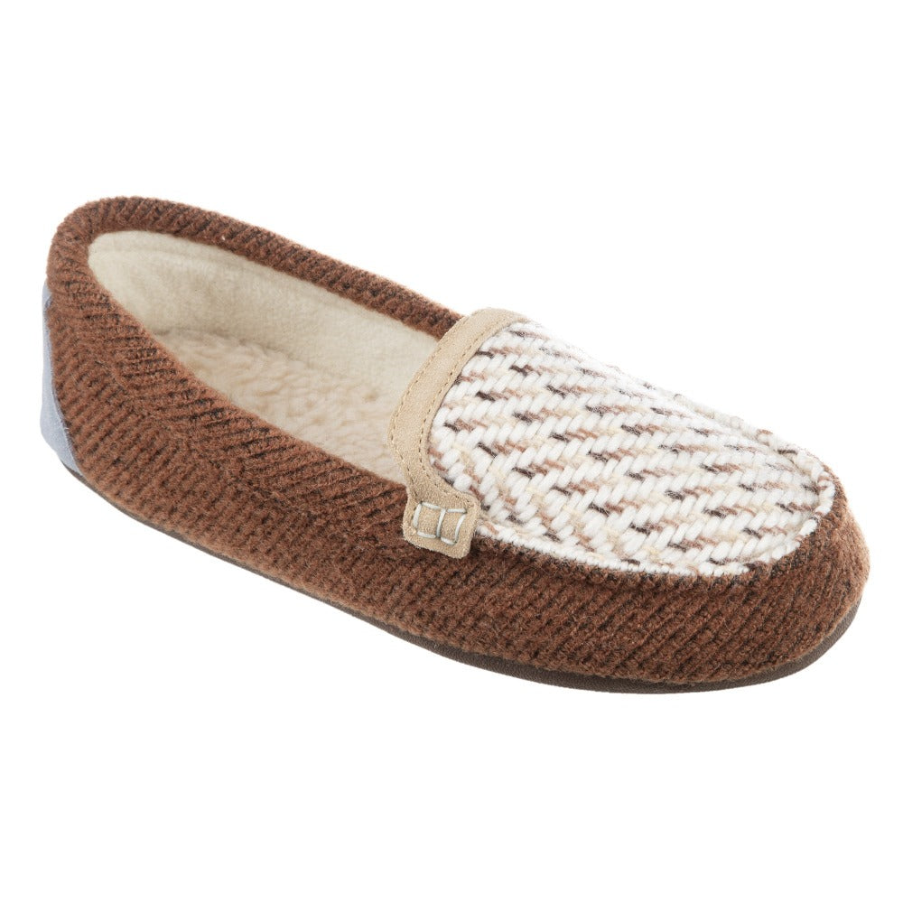 Women's Andover Driver Moc Slipper in Buckskin Right Angled View