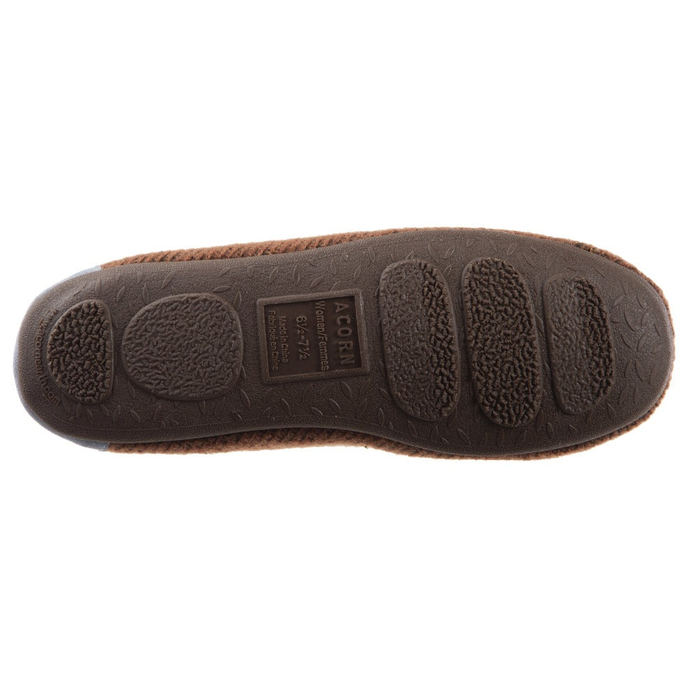 Women's Andover Driver Moc Slipper in Buckskin Bottom Sole Tread