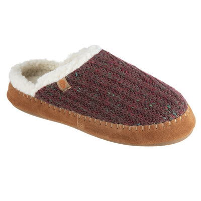 Women's Recycled Camden Clog in Garnet Right Angled View